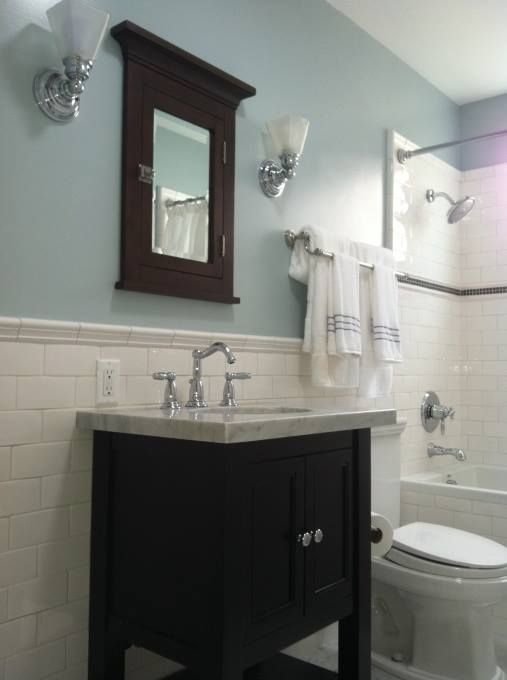 Subway Tile Mansion Drive Pinterest Small Bathroom Subway Tiles And White Tiles