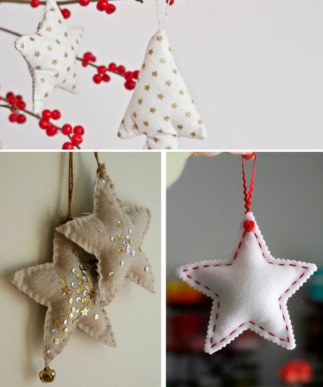 DIY: 30 idées inspirantes pour un Noel chic et lumineux star christmas / tree christmas / arbre de noel / decoration / free pattern / patron gratuit