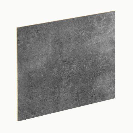 Crédence stratifié Blanc brillant / effet béton gris H.64 cm x L.300 cm