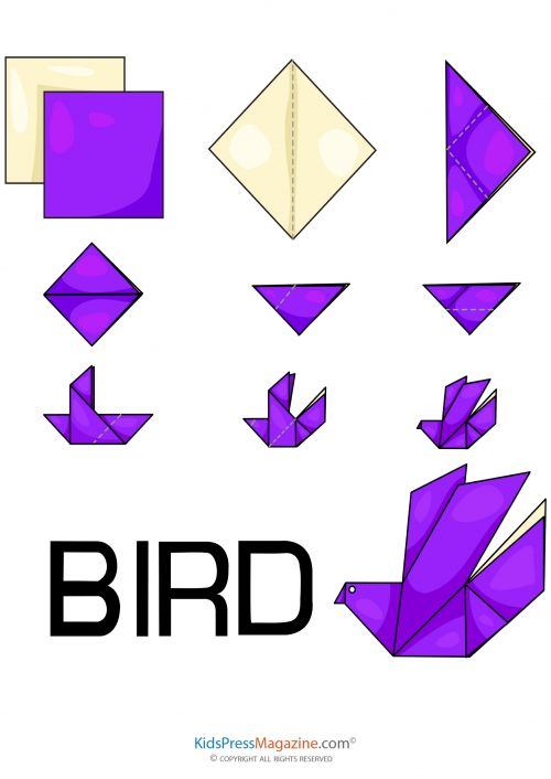 Folding origami birds is a classic past time that improves dexterity and focus. Use our free printable templates to fold your own