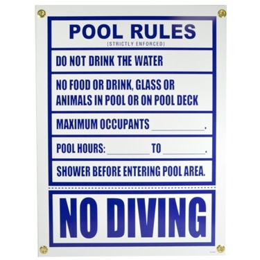 21 best swimming pool rules signages images on pinterest - Florida condo swimming pool rules ...