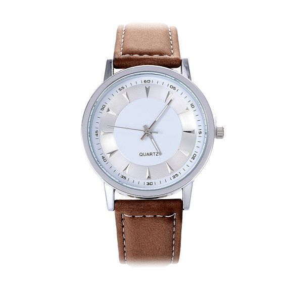 Leather Watch Men  Mens Casual Watch  Mens Quartz Watch  by MODHUB