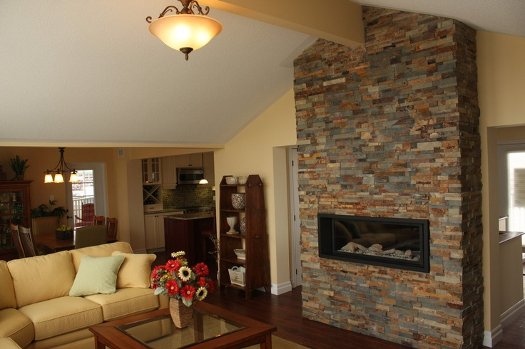 full wall fireplace