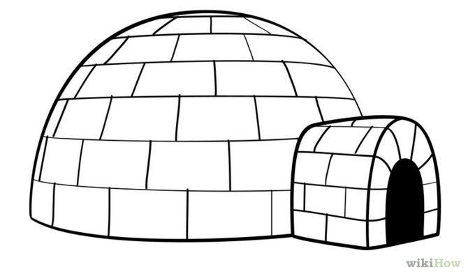 How to Draw an Igloo | Igloo drawing, Igloo craft, Igloo
