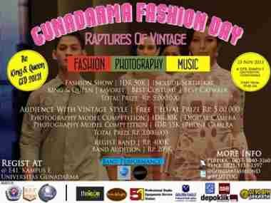 "terbaru GUNADARMA FASHION DAY ""Raptures Of Vintage"" Lihat berita https://www.depoklik.com/blog/gunadarma-fashion-day-raptures-of-vintage/"