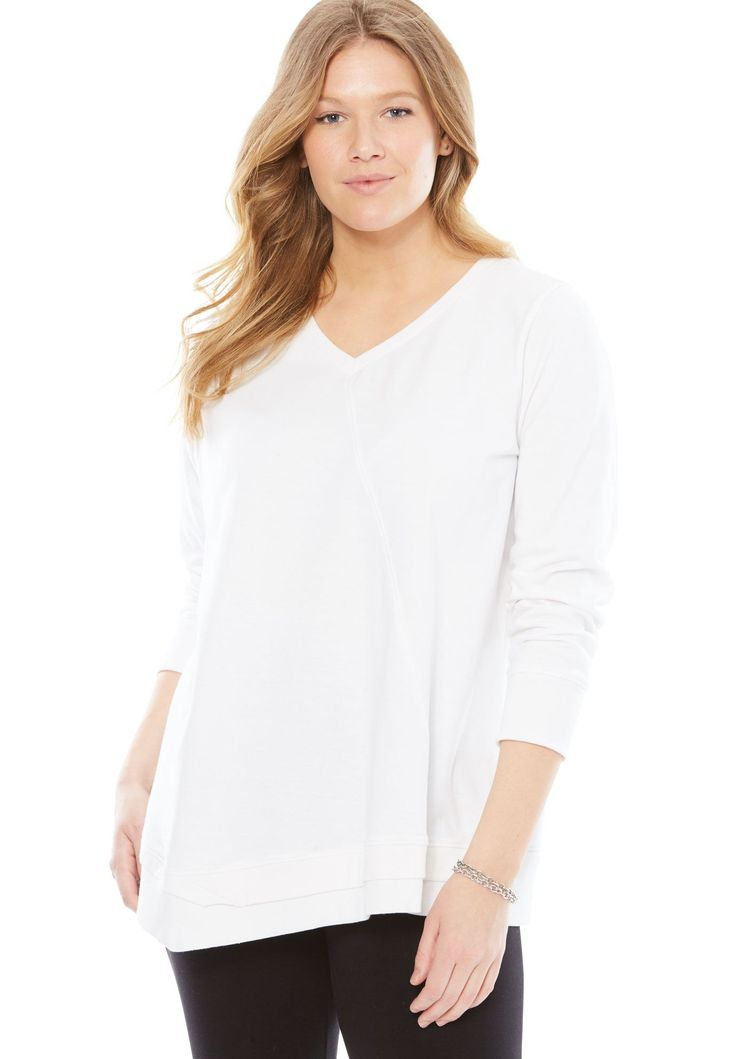 High-low Hem Sweatshirt - Women's Plus Size Clothing 2