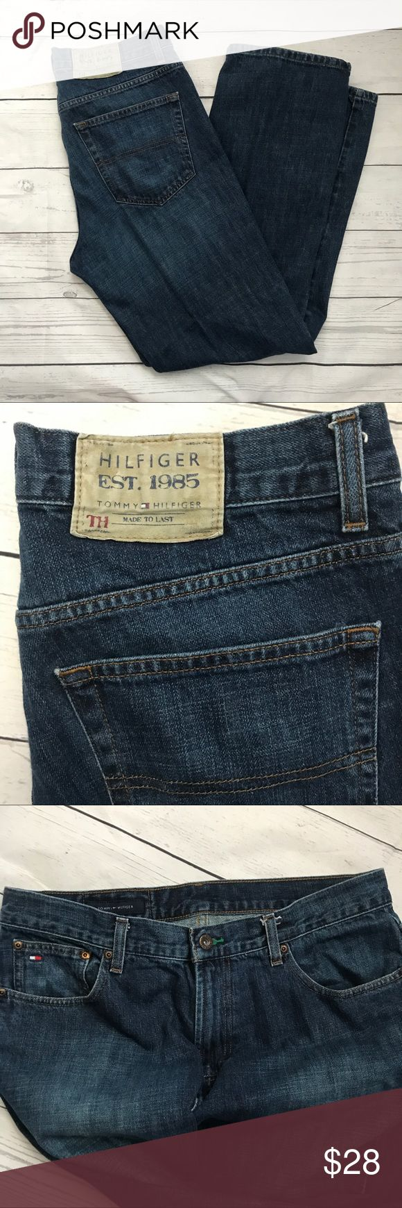 Tommy Hilfiger Freedom Jeans Tommy Hilfiger Freedom Jeans, men's jeans size 33/32.  Vintage jeans in great condition! No rips or sign of wear on the hems. Dark wash jeans  Offers welcome no trades. Tommy Hilfiger Jeans