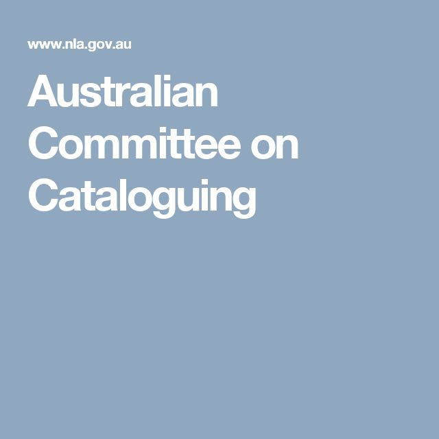 Australian Committee on Cataloguing