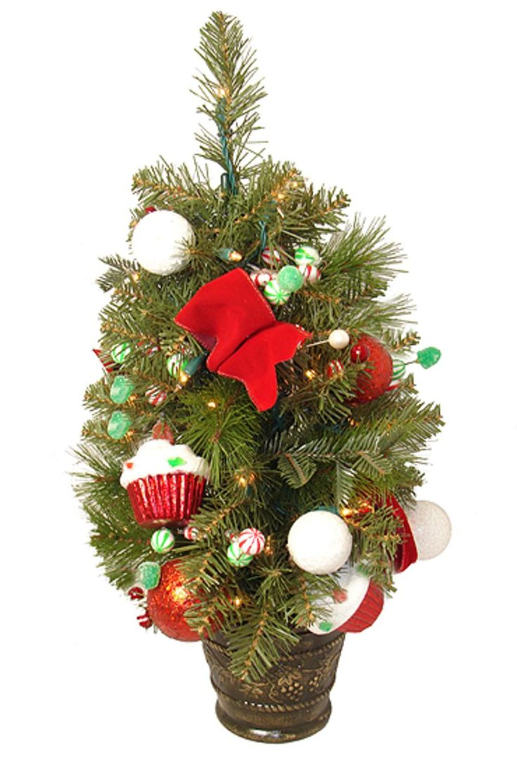 2' Candy Fantasy Pre-Lit And Decorated Artificial Christmas Tree Clear Lights