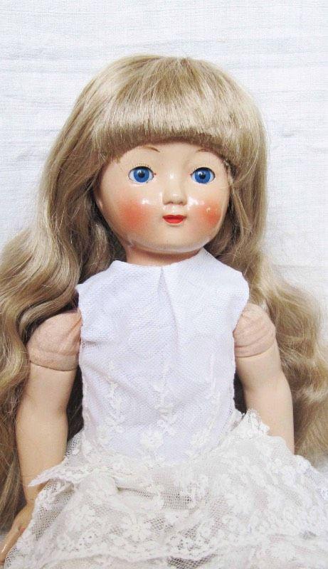 Композитная девочка 50-х годов / Куклы и игрушки детства / Шопик. Продать купить куклу / Бэйбики. Куклы фото. Одежда для кукол