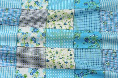 Bawełna turkusowy patchwork