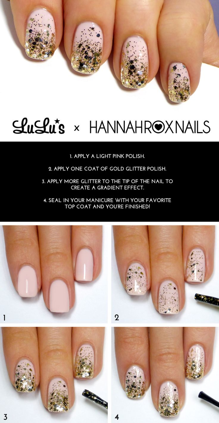 Mani Monday: Champagne and Gold Glitter Nail Tutorial at LuLus.com!