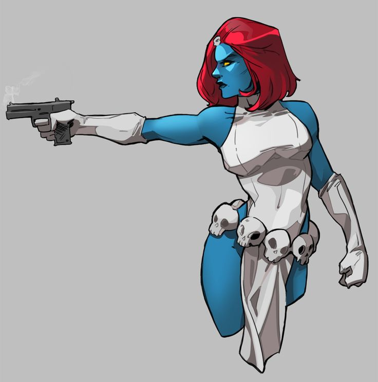 Mystique She looks so much cooler in the comics.