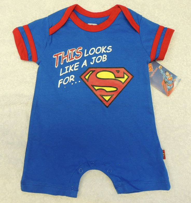NEW Job For Superman Romper, One Piece, Size 6 9 Months, Baby