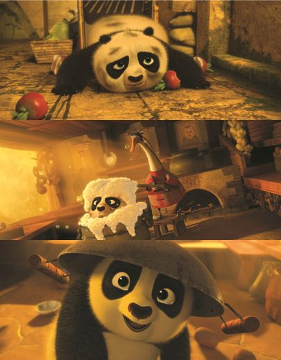 Po when he was a child...  aaaaawwwwwwwwwwwwwwwwwwwww!!!!  His story was so sad when it was revealed in Kung Fu Panda 2