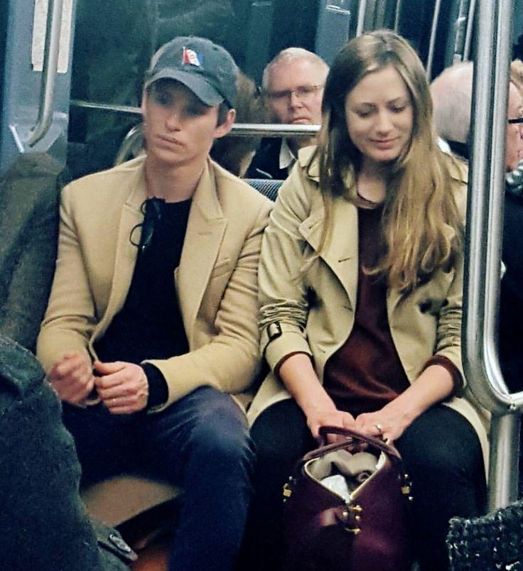 """bespokeredmayne: """"Eddie Redmayne and Hannah Bagshawe riding the Metro in Paris…"""