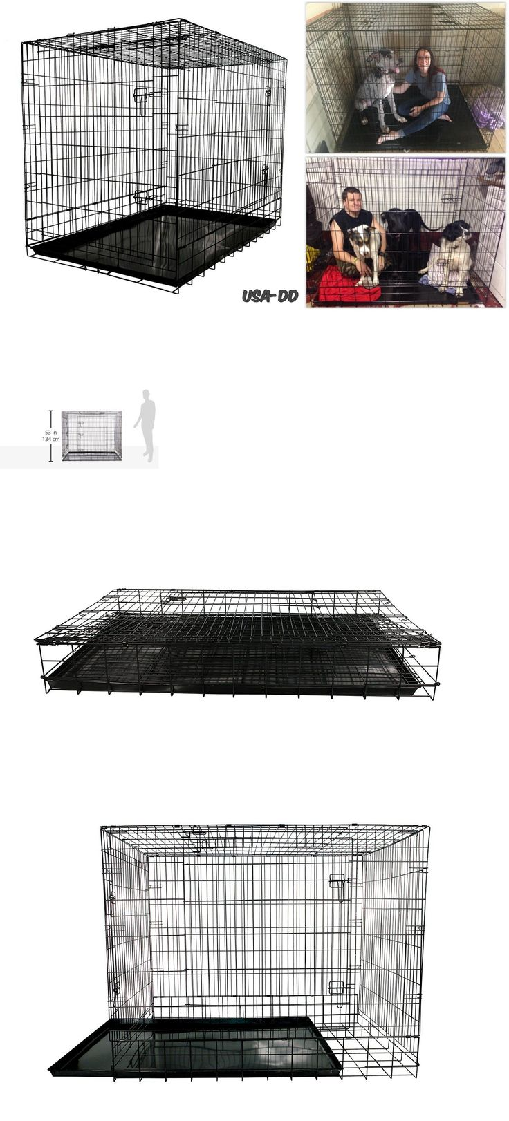 Cages and Crates 121851: Xxl Folding Dog Crate Wire Metal Puppy Kennel Cage Large Giant Training Houses -> BUY IT NOW ONLY: $176.42 on eBay!