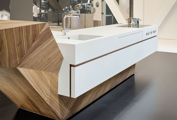 INTERIOR-iD project - kitchen island unit for 100% Design Show. Bespoke joinery
