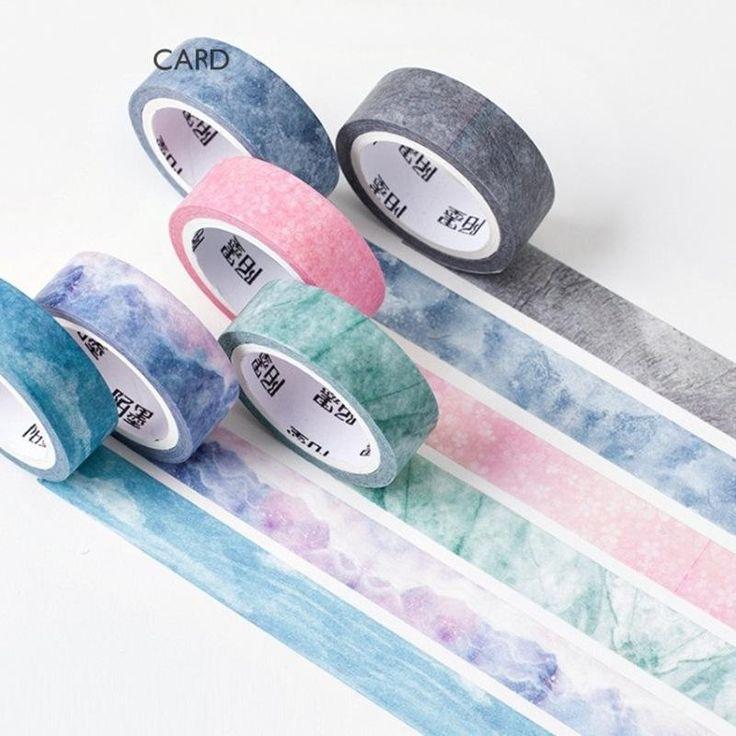 6 Set Piece Nature's Color Washi Tape 15mmx7m