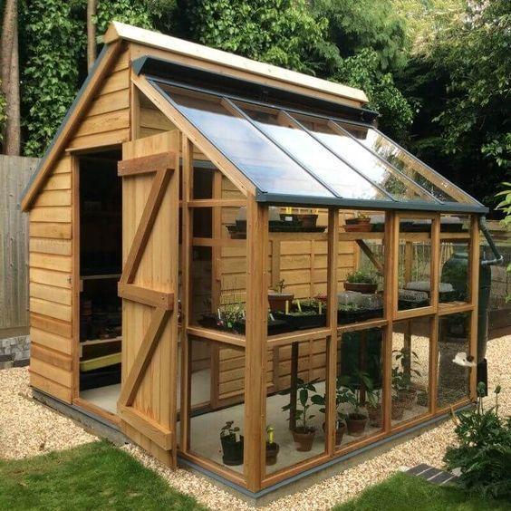 A Greenhouse Storage Shed for your Garden #gardeningorganic