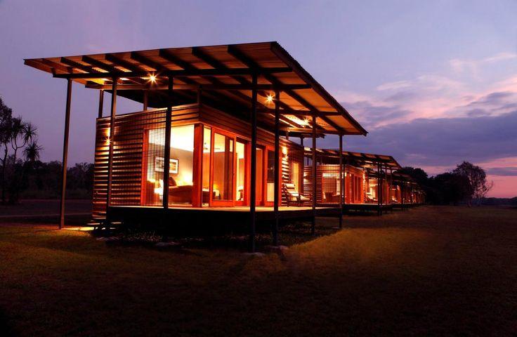 Wildman Wilderness Lodge. The habitat cabins of the resort, an alternative to staying in the tents. #interdema #safaritent #ecoresort #luxury #travel #design #WildmanWildernessLodge #KakaduNationalPark #Australia #дизайн #люкс #путешествие