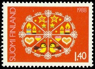 Joulupostimerkki 1988 1/2