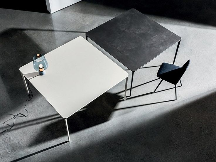 Square ceramic table SLIM CERAMIC by SOVET ITALIA design Matthias Demacker