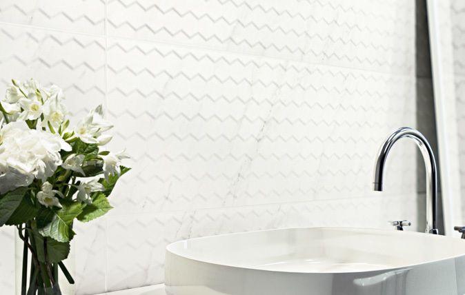 Kolekcja Margarita stanowi idealne połączenie ponadczasowego stylu i nowoczesnej formy, wpisując się w estetykę eleganckiego glamour. minimalistyczna biel I minimalistyczne wnętrze I wnętrze I biel I white bathroom I bathroom |salon | kuchnia | inspiration I industrial I ceramic | ceramic tiles | white ideas I sink I accesories | bathroom