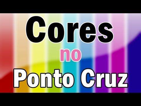 Como usar as cores no ponto cruz - Teoria das cores - YouTube