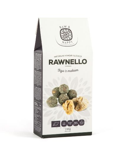 Figa z makiem Rawnello Bio, 110 g - Raw And Happy Food