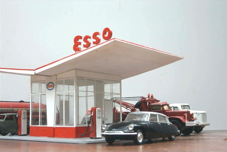 Dudok benzinestation 1954