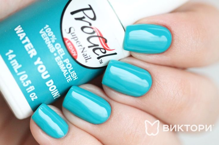 ‪#‎Spring‬ is just around the corner. Are your clients requesting lighter shades? We recommend 'Water You Doing?' It's a sublime spring color. Comment if you have ever tried this shade. Swatch by @victoryco.ru  #supernailprofessional #supernail #progel #wateryoudoin