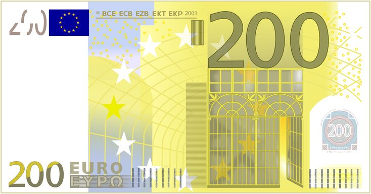 The 200 euro bill reflects an art movement known as the Art Nouveau era, or Modernisme. This art style is characterized by intricate, asymmetrical facades, and often times windows, arches, and doors were in curving forms.