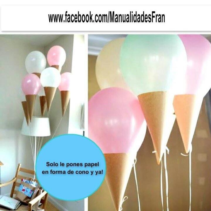 Cono de globos para cumpleaños