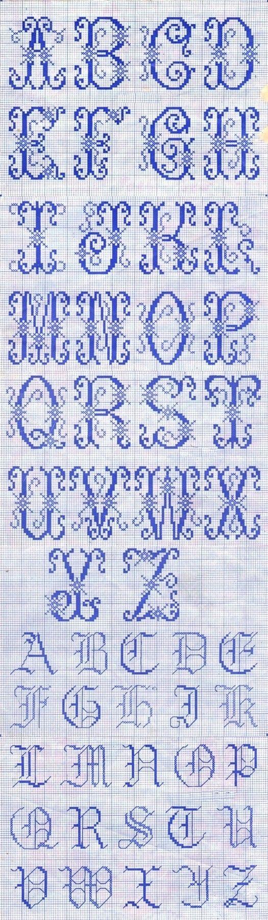 26英文字母十字绣样~~ Alphabet