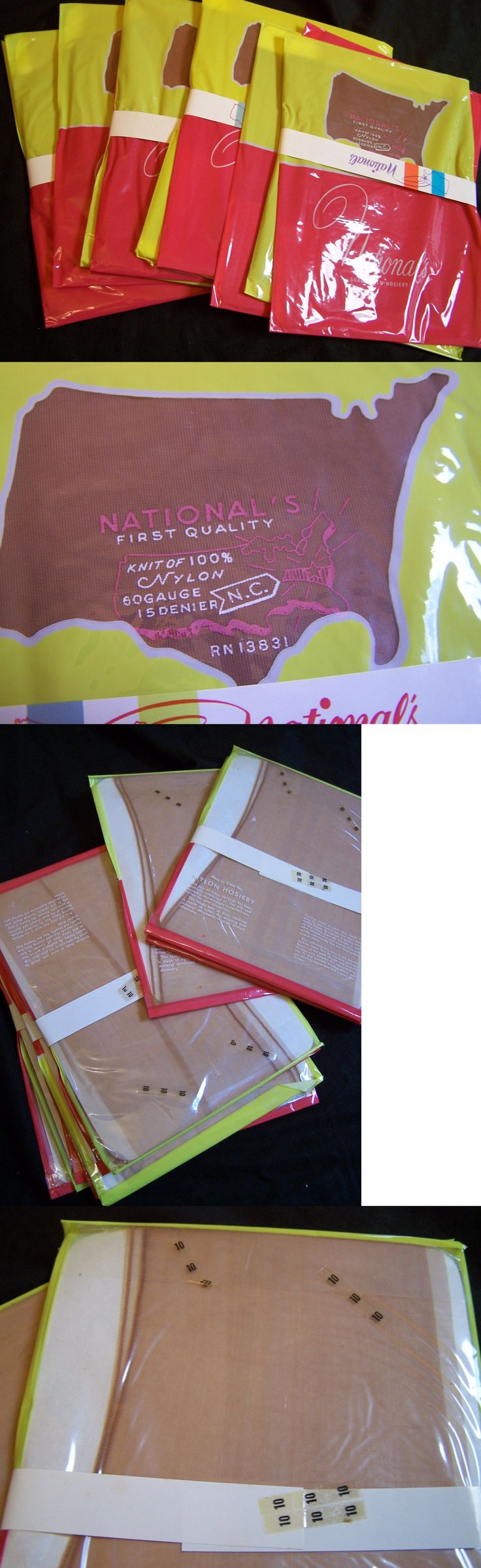 Stockings and Thigh-Highs 11527: 10 Lot~National S Seamed Nylons, Stockings Rn 13831, Size 10, Beige, Sealed -> BUY IT NOW ONLY: $100 on eBay!