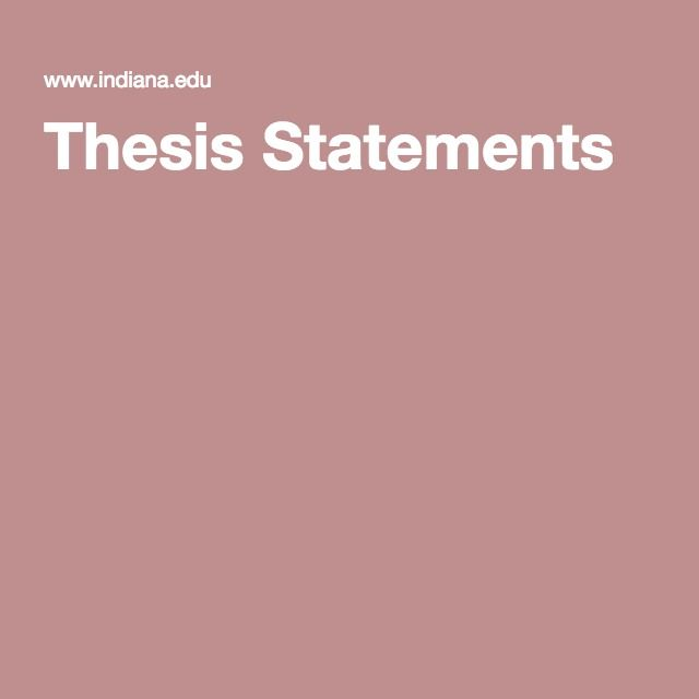 thesis statement topic ideas