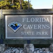 Tallahassee Florida Caverns State Park Entrance Sign