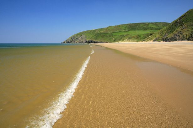 The beach at Penbryn, just north of Aberporth