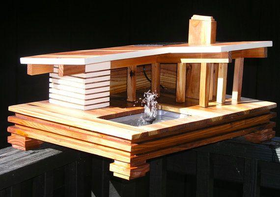 Mid Century Hollywood Hills Water Feature by MidCenturyWoodShop, $550.00 - Bird Bath