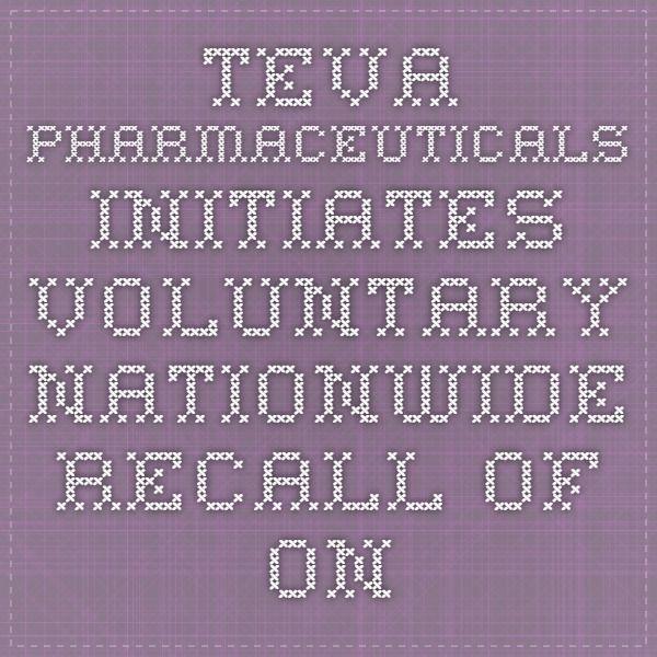 Teva Pharmaceuticals Initiates Voluntary Nationwide Recall of One Lot of Amikacin Sulfate Injection USP 1 gram/4mL (250 mg/mL) Vials Due to Glass Particulate Matter