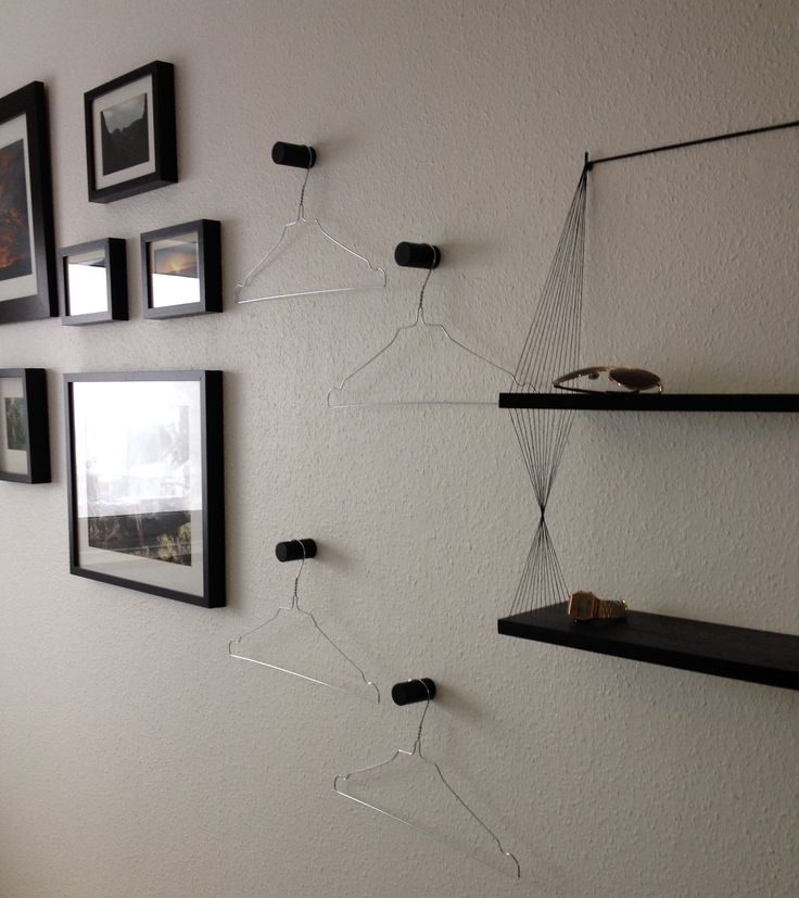 DIY Hooks and String Shelf by Sofie Dybdal Hansen #DIY #Hooks #String #Shelf #Knager #Hylde