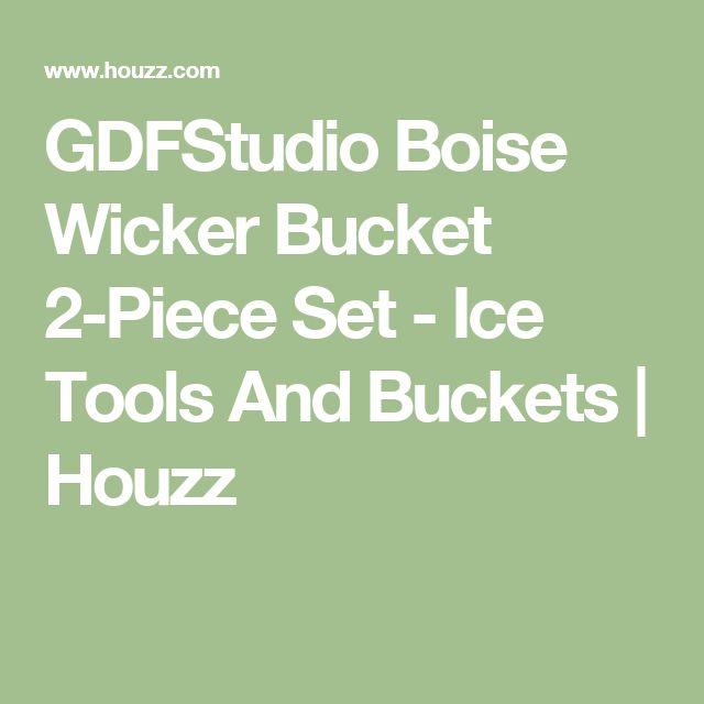 GDFStudio Boise Wicker Bucket 2-Piece Set - Ice Tools And Buckets | Houzz