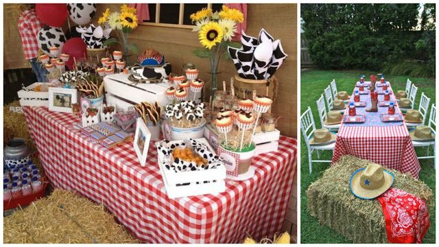 Decoración de cumpleaños con animales de la granja y de la selva ~ Mimundomanual