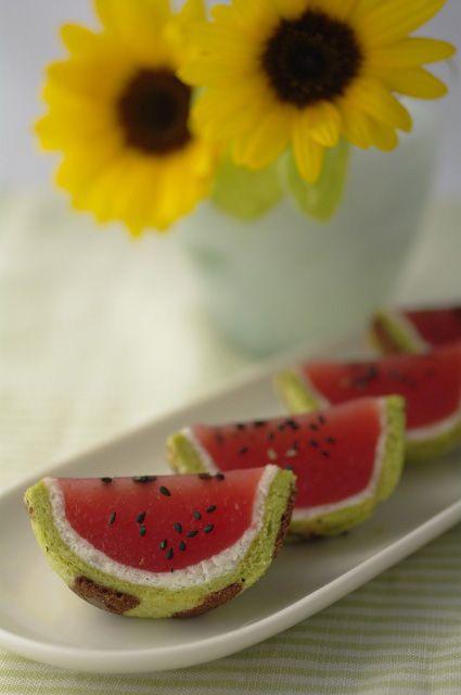 和菓子 「西瓜」ニ種 と 「蛍」 : ふつうのコト