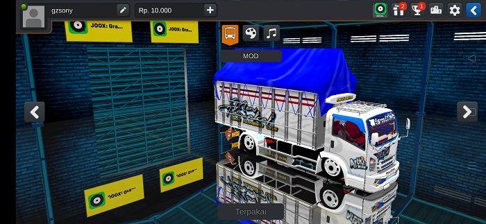 Mod Truck New Tawakal 5 Bussid Truk Baru Terpal Kendaraan