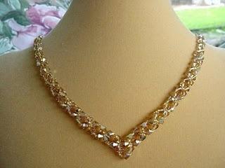 """topaz """"V"""" necklace 90.00"""