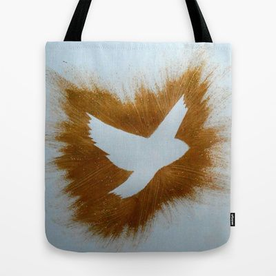 THEPEACEBOMB GOLDE GLITTER Tote Bag by ThePeaceBombers - $22.00 #peace #art #thepeacebomb #shopping #trending #gifts