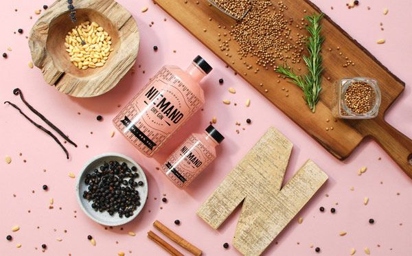 Corporate design and packaging by German agency Qoop for Niemand Dry Gin. Hannover, Germany based agency Qoop was commissioned for the overall brand develo