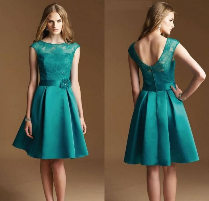 Pewter Bridesmaid Dresses Top Quality A Line Jewel Knee Length Satin Hunter Green Lace Short Bridesmaid Dresses For Wedding Modest Party Homecoming Dresses Pastel Pink Bridesmaid Dresses From Ebelz, $65.35| Dhgate.Com